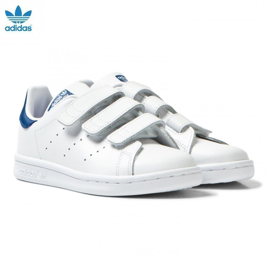 Adidas Originals Kids Stan Smith Trainers White And Blue Lenkkarit