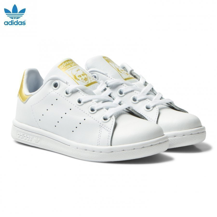 Adidas Originals Kids Stan Smith Trainers White And Gold Lenkkarit