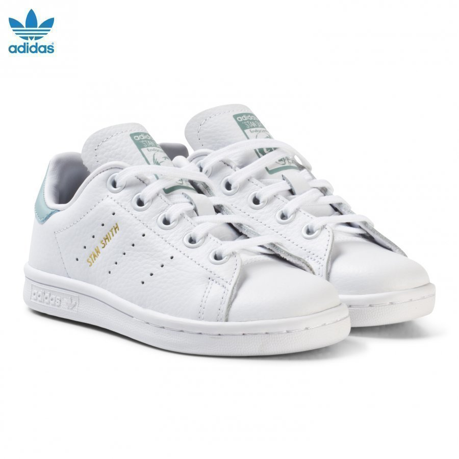 Adidas Originals Kids Stan Smith Trainers White And Mint Green Lenkkarit