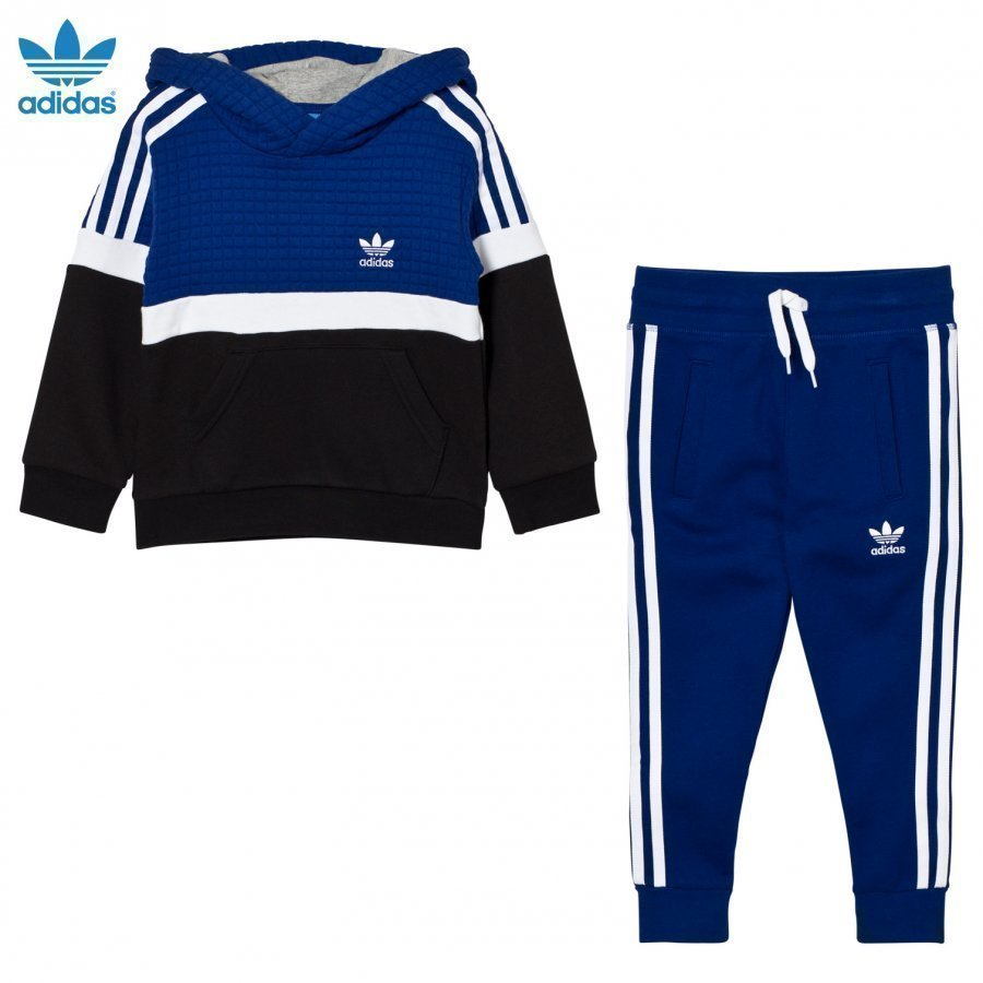 Adidas Originals Kids Trefoil Hooded Tracksuit Blue/White/Black Huppari