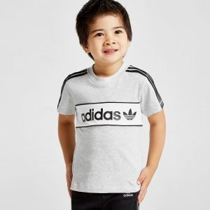 Adidas Originals Linear Colour Block T-Shirt Infant Harmaa