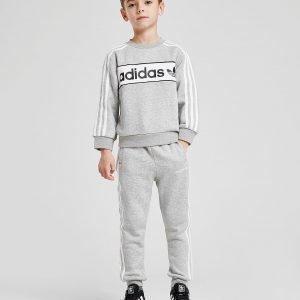 Adidas Originals Linear Crew Suit Harmaa