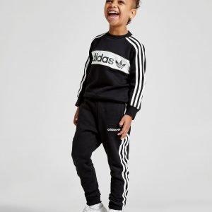 Adidas Originals Linear Crew Suit Musta