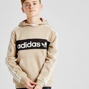 Adidas Originals Linear Fleece Overhead Hoodie Beige