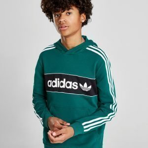 Adidas Originals Linear Fleece Overhead Hoodie Vihreä