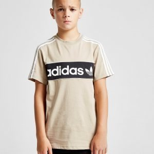 Adidas Originals Linear Logo T-Shirt Beige