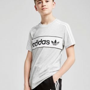 Adidas Originals Linear Logo T-Shirt Harmaa