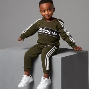 Adidas Originals Linear Overhead Tracksuit Infant Vihreä