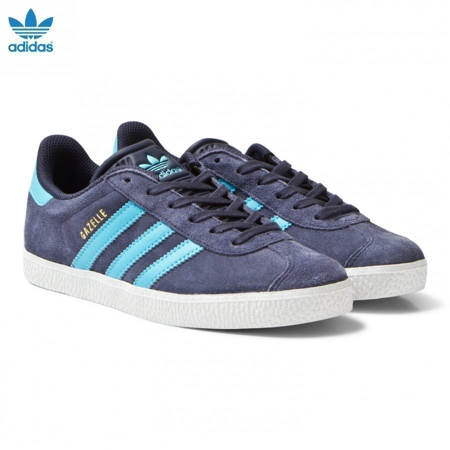 Adidas Originals Midnight Grey Junior Gazelle Trainers Lenkkarit