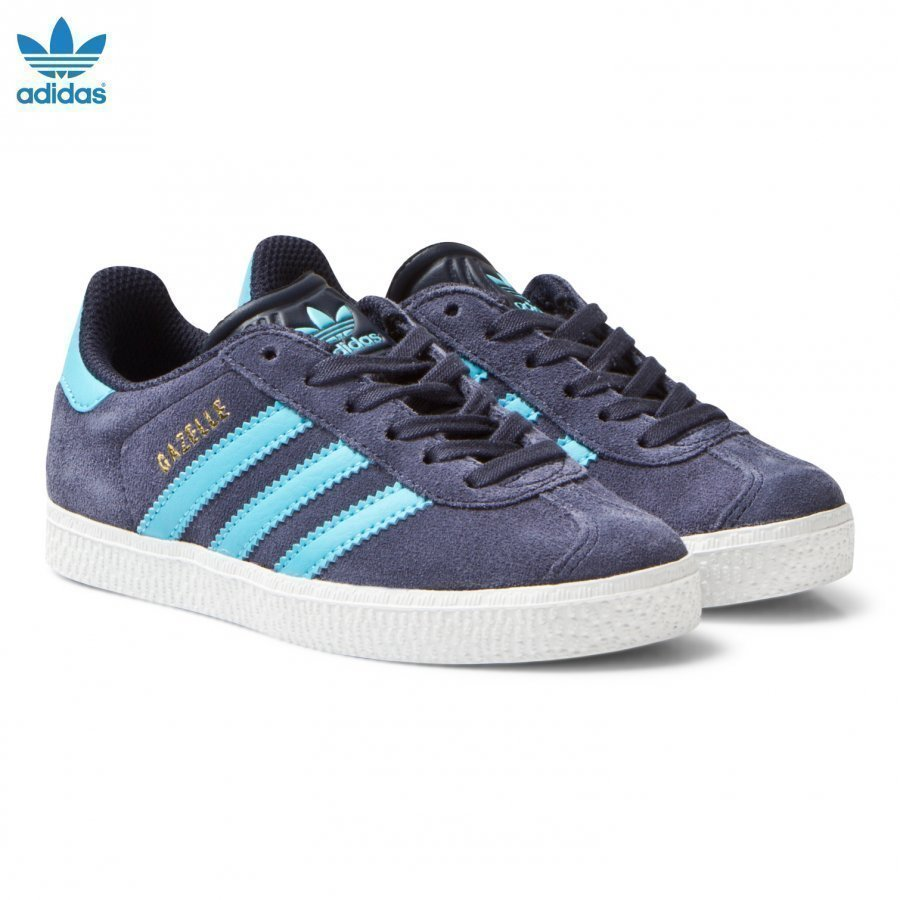 Adidas Originals Midnight Grey Kids Gazelle Trainers Lenkkarit