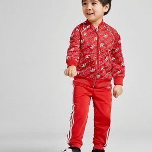 Adidas Originals Mono All Over Print Superstar Tracksuit Infant Punainen