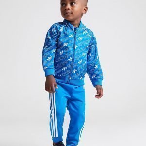 Adidas Originals Mono All Over Print Superstar Tracksuit Infant Sininen