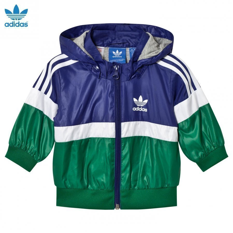 Adidas Originals Navy Infants Logo Windbreaker Tuulitakki