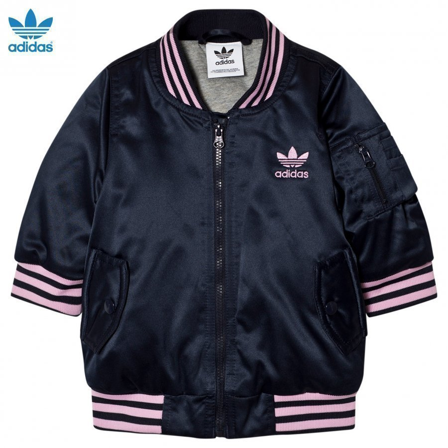 Adidas Originals Navy Infants Nomad Bomber Jacket Bomber Takki
