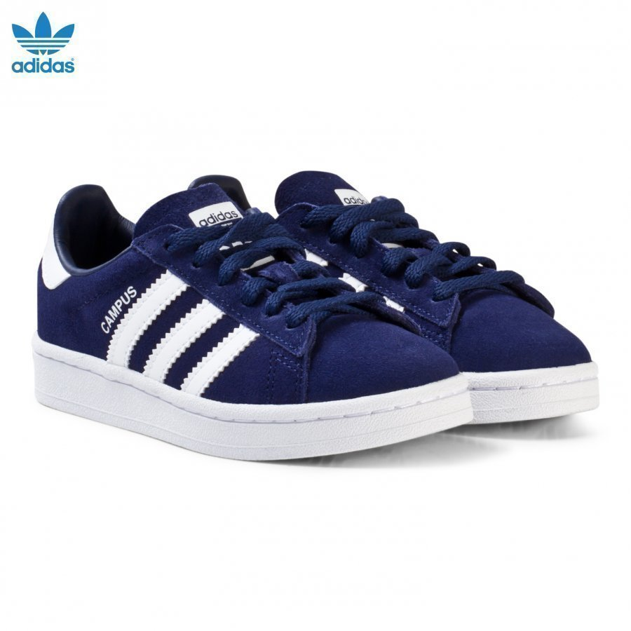 Adidas Originals Navy Kids Campus Trainers Lenkkarit