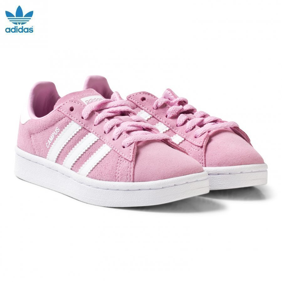 Adidas Originals Pink Kids Campus Trainers Lenkkarit