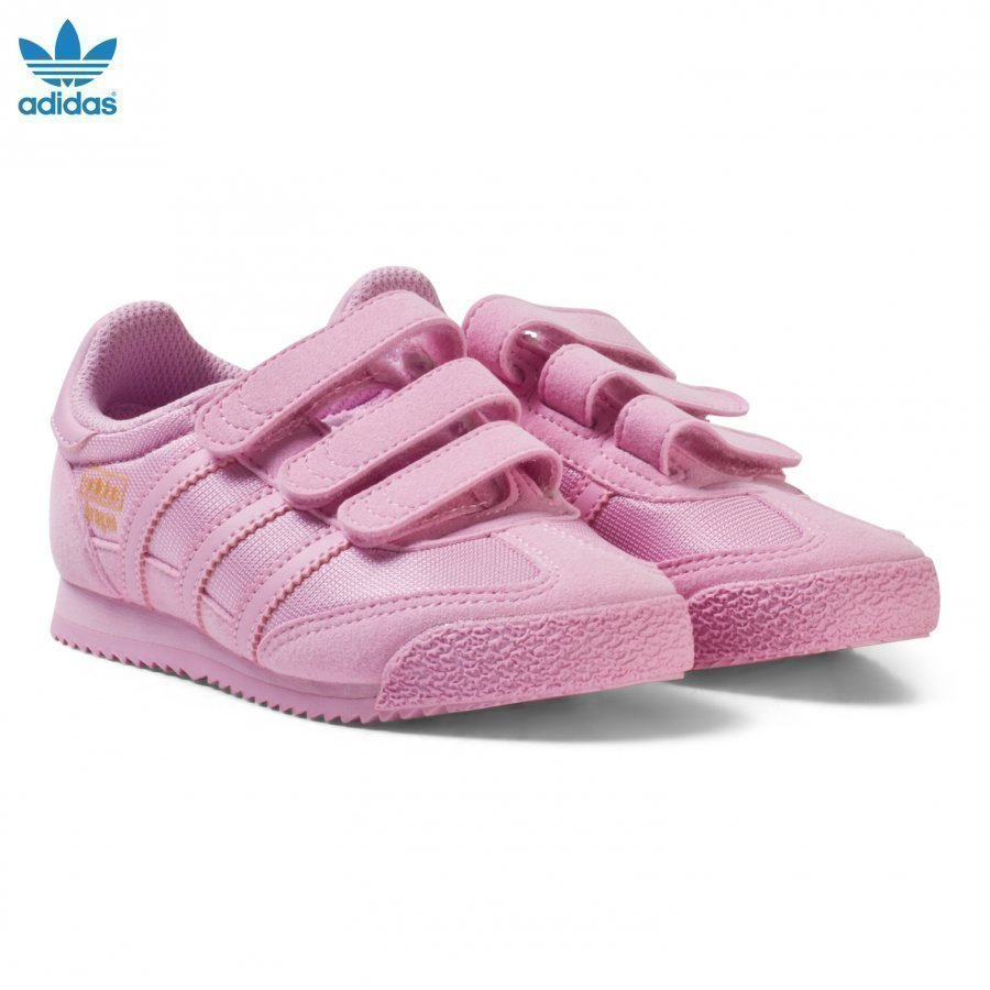 Adidas Originals Pink Kids Dragon Trainers Lenkkarit