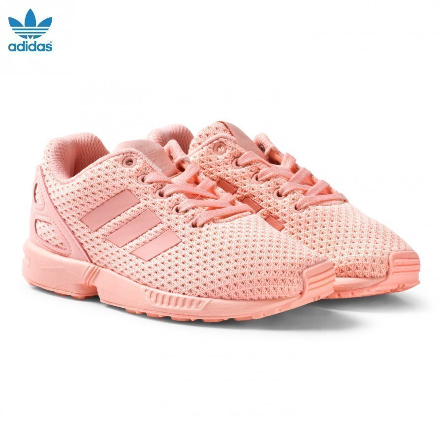 Adidas Originals Pink Zx Flux Kids Trainers Lenkkarit