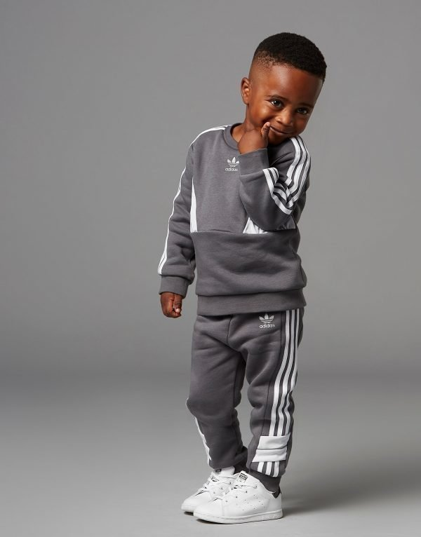 Adidas Originals Speed Crew Tracksuit Infant Harmaa