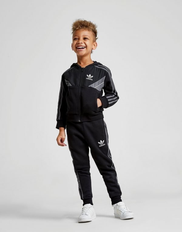 Adidas Originals Speed Fleece Full Zip Suit Musta