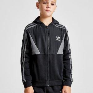 Adidas Originals Speed Fleece Mixed Fabric Hoodie Musta
