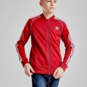 Adidas Originals Superstar Track Top Burgundy / White
