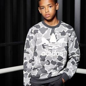 Adidas Originals Trefoil Camo Crew Sweatshirt Harmaa