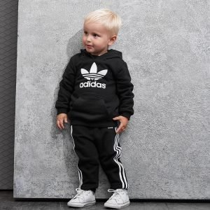Adidas Originals Trefoil Overhead Hooded Suit Infant Musta