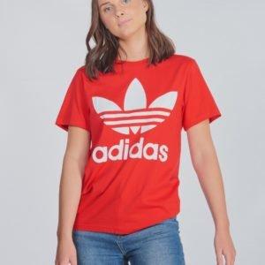Adidas Originals Trefoil Tee T-Paita Punainen