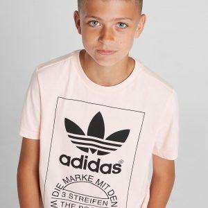 Adidas Originals Trefoil Tongue Label T-Paita Vaaleanpunainen