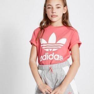 Adidas Originals Tyttöjen Adicolor T-Paita Vaaleanpunainen