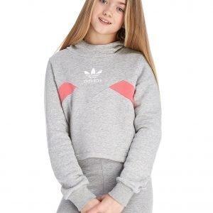 Adidas Originals Tyttöjen Crop Huppari Harmaa