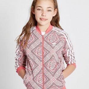 Adidas Originals Tyttöjen Geo All Over Print Verryttelypaita Vaaleanpunainen