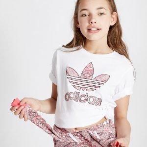Adidas Originals Tyttöjen Geo Infil Boyfriend T-Paita Valkoinen