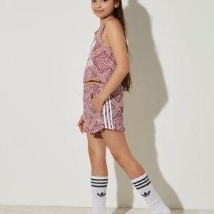 Adidas Originals Tyttöjen Graphic All Over Print Shortsit Vaaleanpunainen