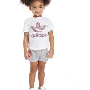 Adidas Originals Tyttöjen Infil T-Paita & Shortsit Setti Valkoinen
