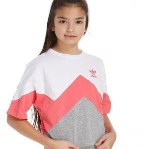 Adidas Originals Tyttöjen Moa Crop T-Paita Harmaa