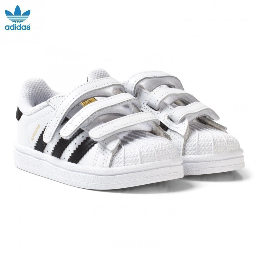 Adidas Originals White And Black Superstar Infant Trainers Lenkkarit