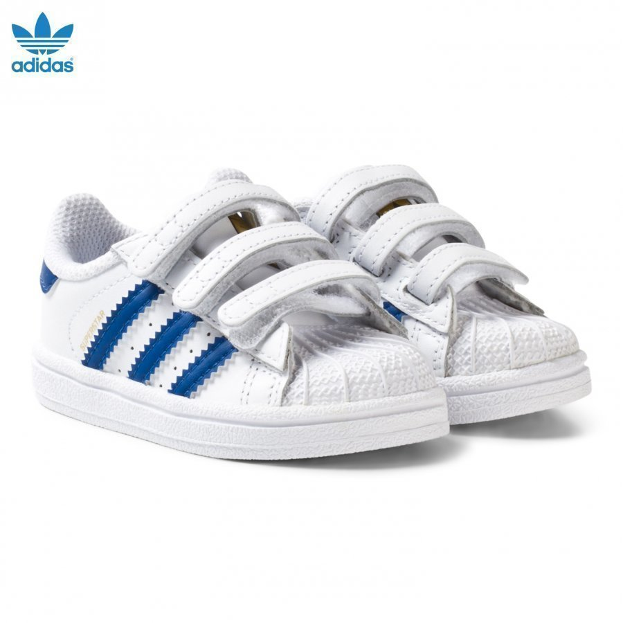 Adidas Originals White And Blue Superstar Infant Trainers Lenkkarit