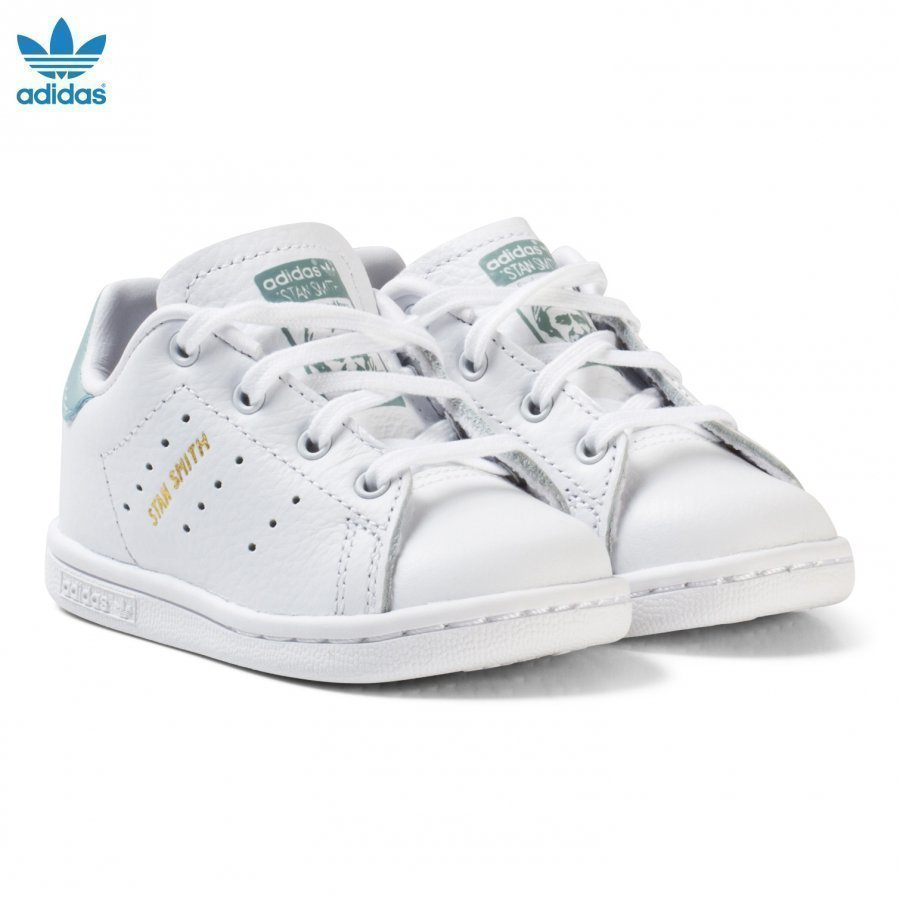 Adidas Originals White And Mint Green Infants Stan Smith Trainers Lenkkarit