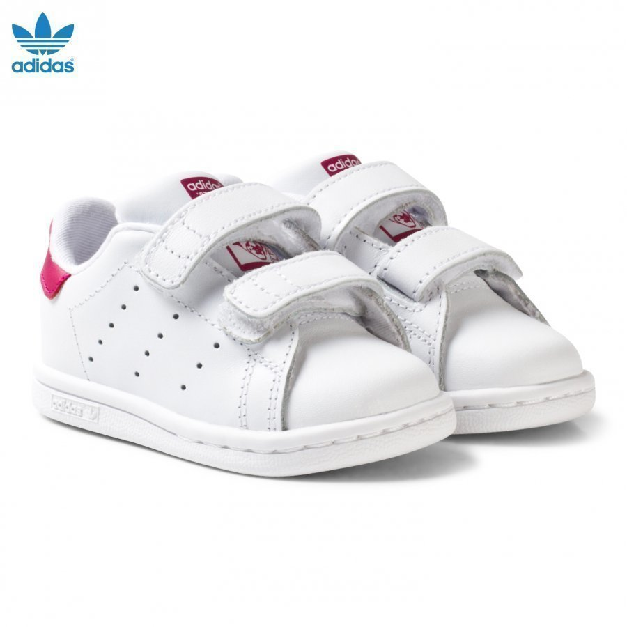 Adidas Originals White And Pink Stan Smith Infant Trainers Lenkkarit