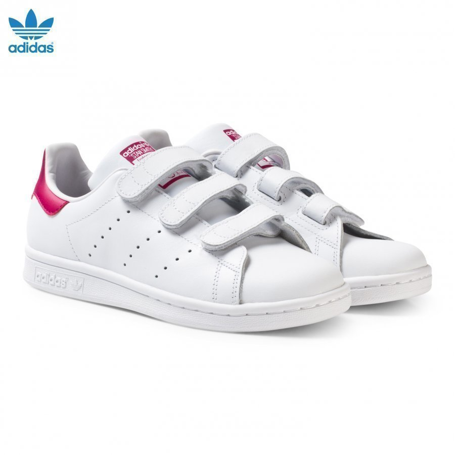 Adidas Originals White And Pink Stan Smith Junior Trainers Lenkkarit