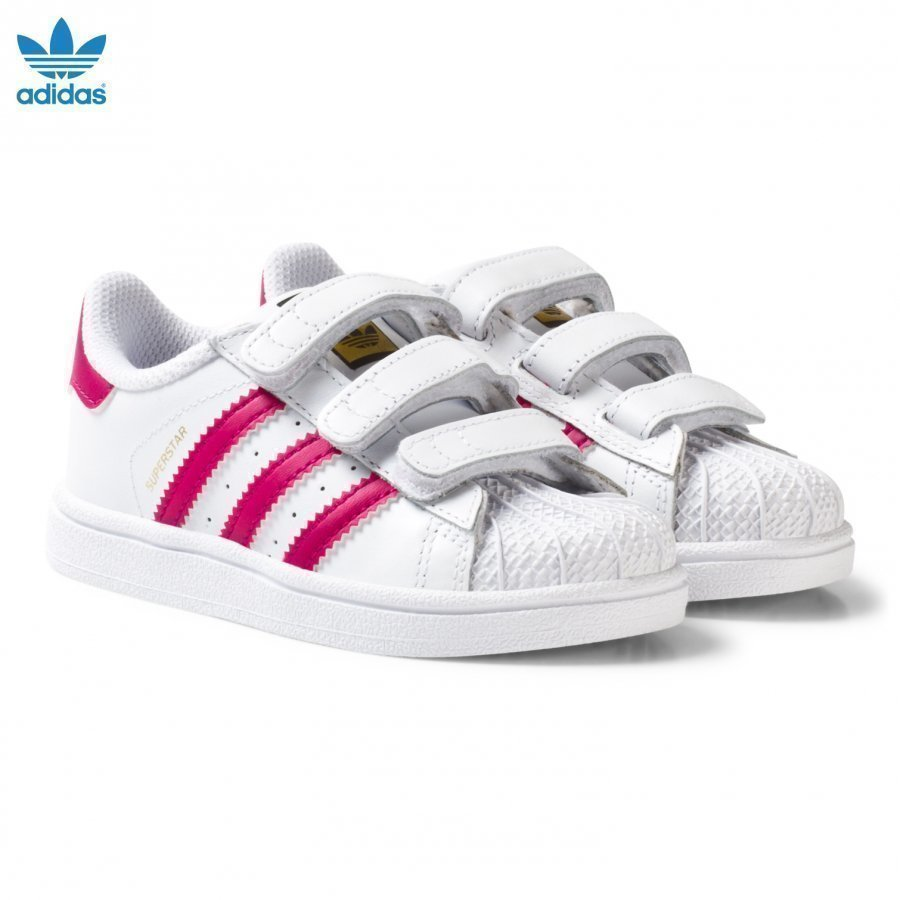 Adidas Originals White And Pink Superstar Infant Trainers Lenkkarit