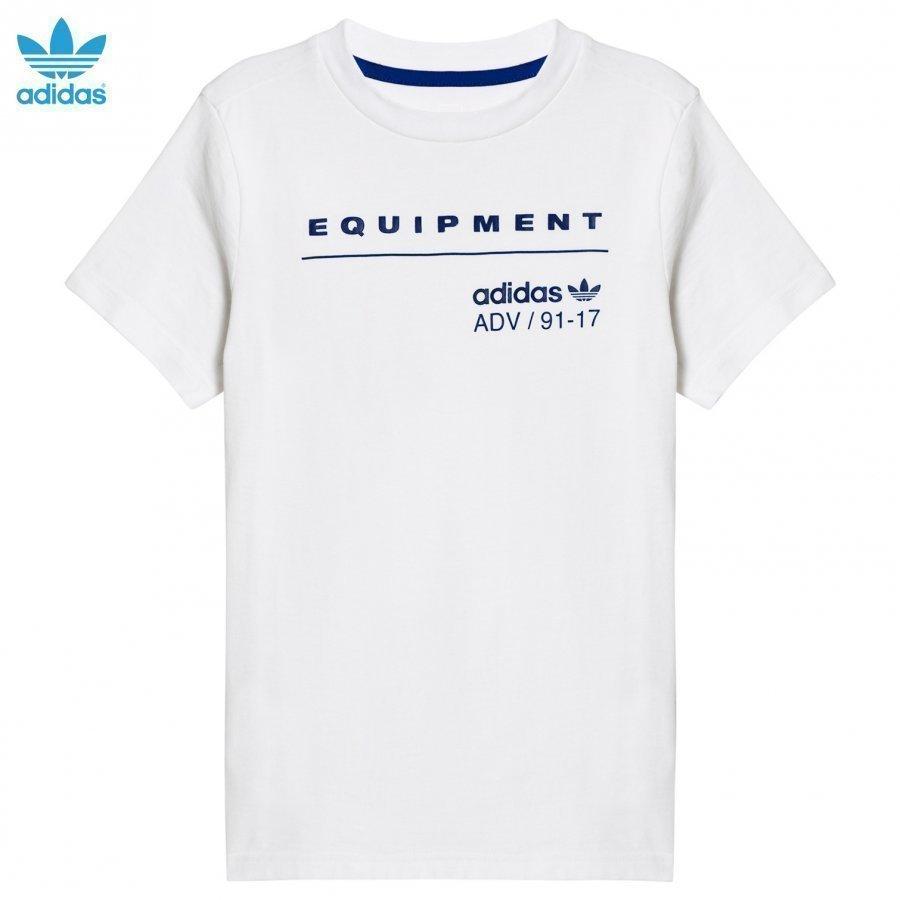 Adidas Originals White Equipement T-Shirt T-Paita