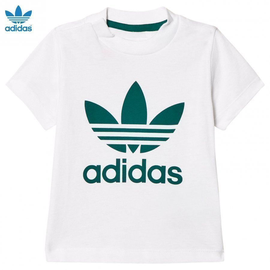 Adidas Originals White Infants Logo Tee T-Paita