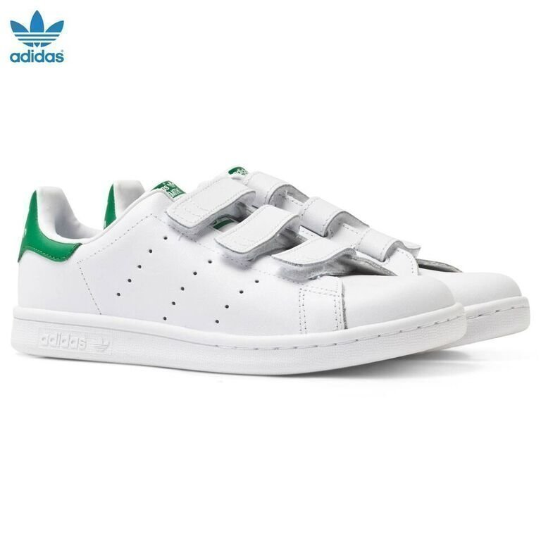 Adidas Originals White Stan Smith Velcro Trainers Lenkkarit
