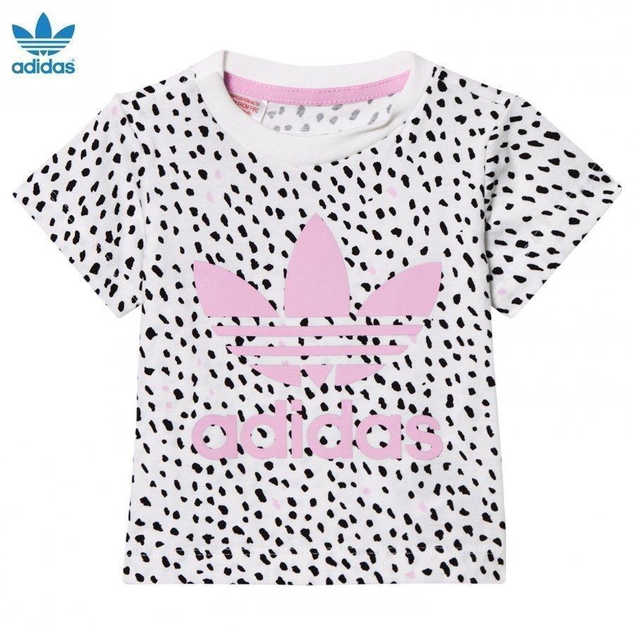 Adidas Originals White/Pink Infants Nomad Tee T-Paita