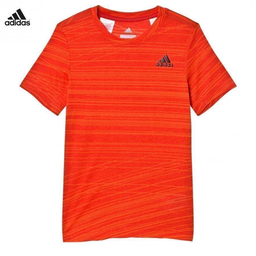 Adidas Performance Aero Performance Tee Red/Orange T-Paita