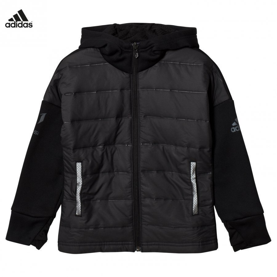Adidas Performance Black Messi Zip Jacket Verryttelytakki