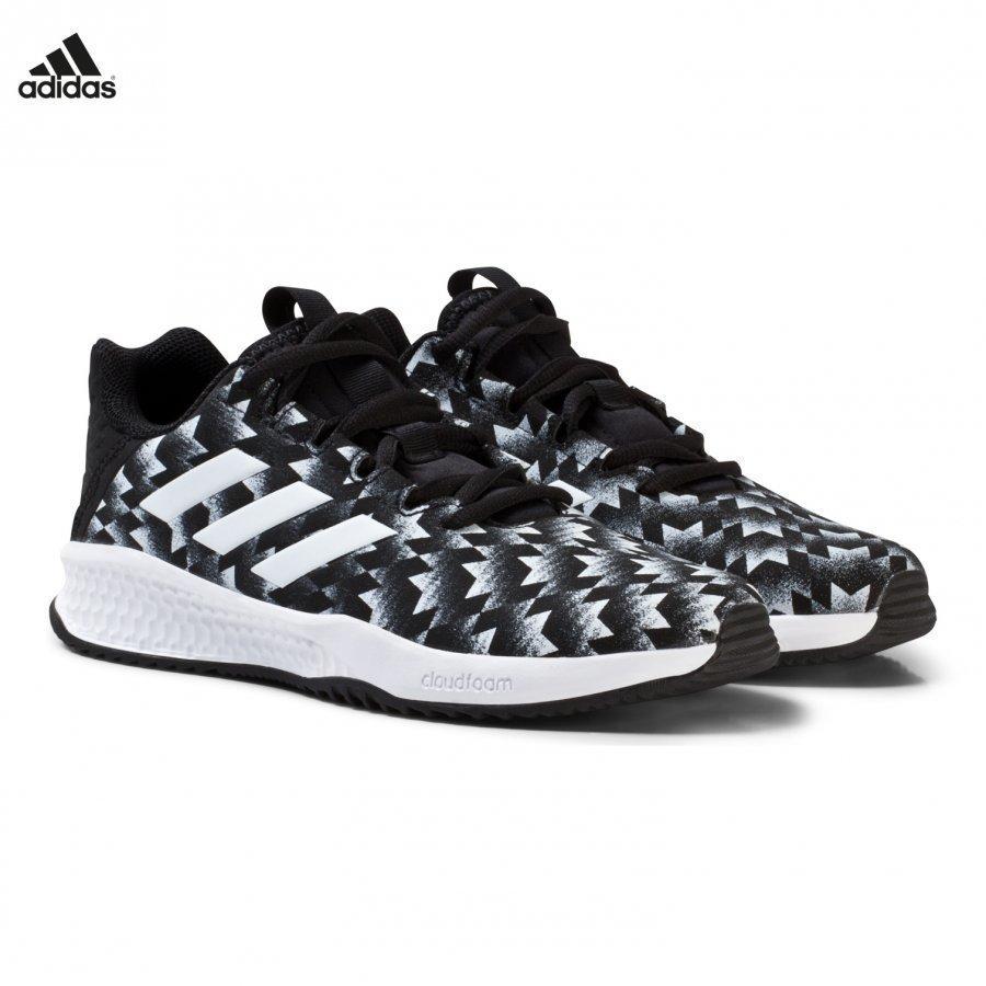 Adidas Performance Black Rapida Man U Kids Trainers Urheilukengät